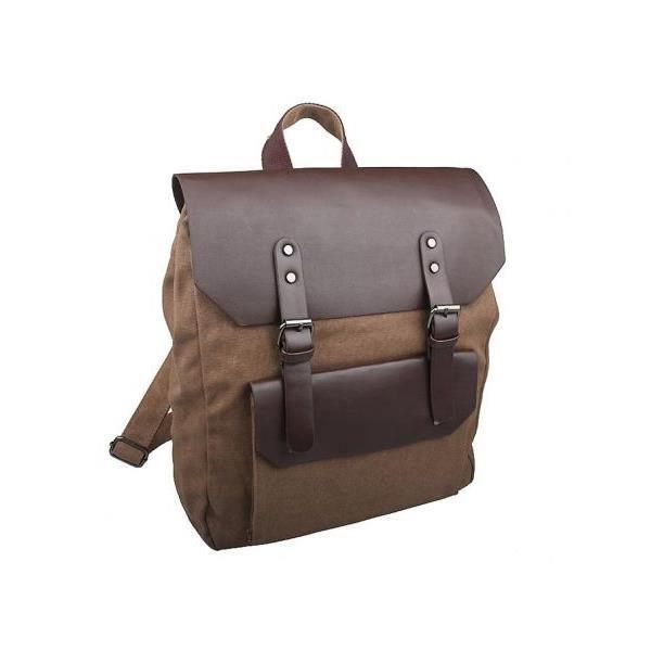 sac dos pour ordinateur en toile achat vente sac. Black Bedroom Furniture Sets. Home Design Ideas