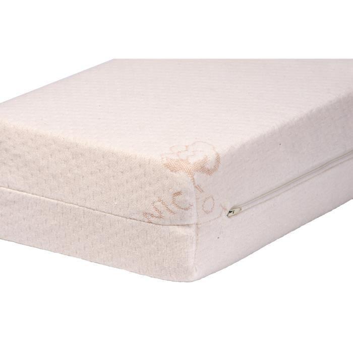 matelas bellemont bio coton d houssable 70 cm x blanc achat vente matelas b b. Black Bedroom Furniture Sets. Home Design Ideas