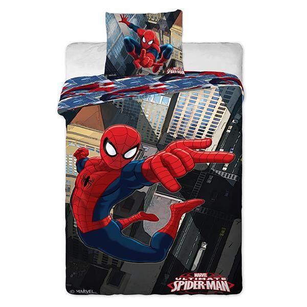 housse de couette ultimate spiderman pour lit 1 personne. Black Bedroom Furniture Sets. Home Design Ideas