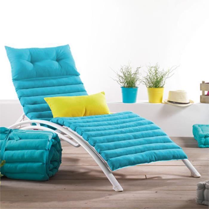 Coussin bain de soleil pacifique uni turquoise achat - Coussin pour canape exterieur ...