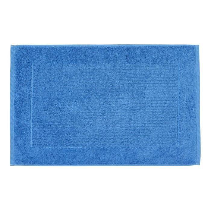Tapis De Bain Uni 100 Coton Turc Bleu De Cobalt Achat Vente Tapis De Bain 5055967435346