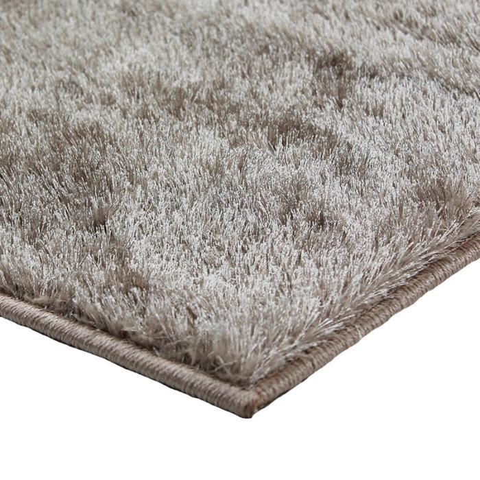 tapis briliant shaggy 160x230 taupe achat vente tapis soldes d t cdiscount. Black Bedroom Furniture Sets. Home Design Ideas