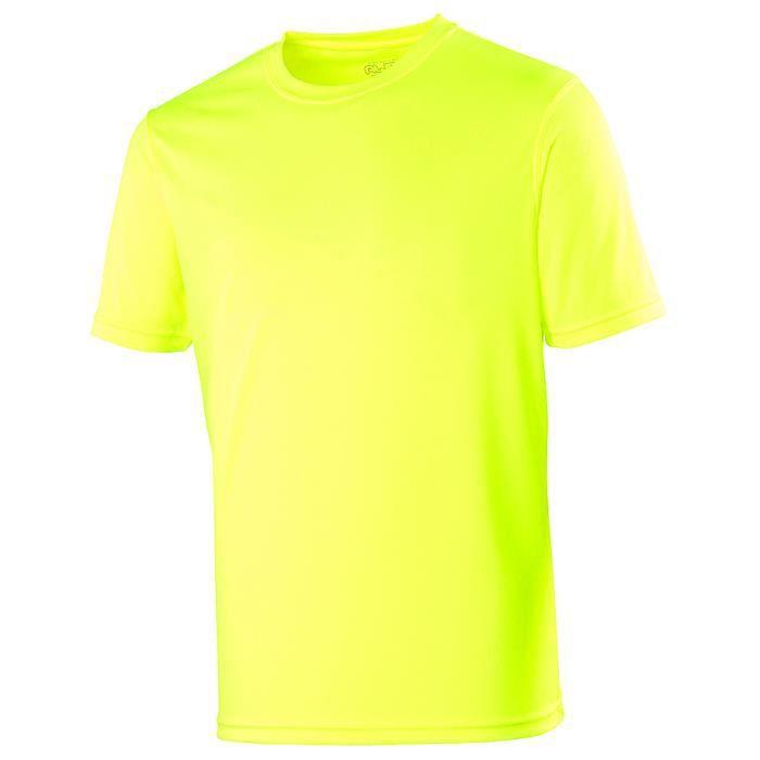 t shirt homme sport jaune fluo marque awdis jaune fluo. Black Bedroom Furniture Sets. Home Design Ideas