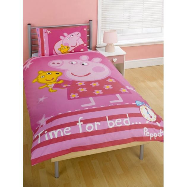 housse de couette peppa pig time for bed 1 achat. Black Bedroom Furniture Sets. Home Design Ideas