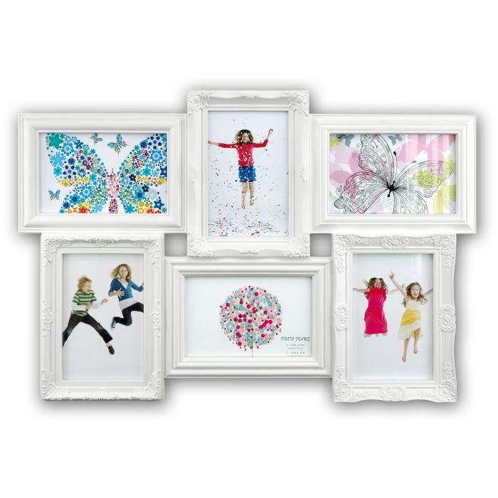 baroque cadre photo p le m le 6 vues 10x15 achat vente p le m le photo cdiscount. Black Bedroom Furniture Sets. Home Design Ideas