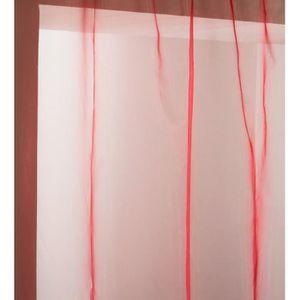 Rideau double voilage achat vente rideau double voilage pas cher les soldes sur cdiscount for Double rideau rose