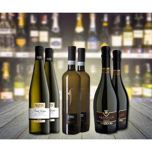 VIN BLANC Sélection de 6 bouteilles de vins Blanc Italiens :