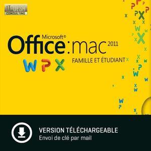 LOGICIEL À TÉLÉCHARGER Mac Office Famille et Etudiant 2011