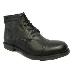 BOTTINE Boots homme KICKERS EN CUIR NOIR