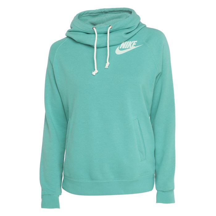nike sweat rally funnel femme vert achat vente sweatshirt cdiscount. Black Bedroom Furniture Sets. Home Design Ideas