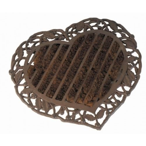 paillasson fonte et coco en coeur achat vente paillasson cdiscount. Black Bedroom Furniture Sets. Home Design Ideas