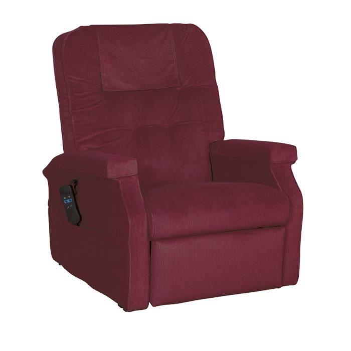 fauteuil releveur relax lectrique succes velours cherry achat vente fauteuil cdiscount. Black Bedroom Furniture Sets. Home Design Ideas