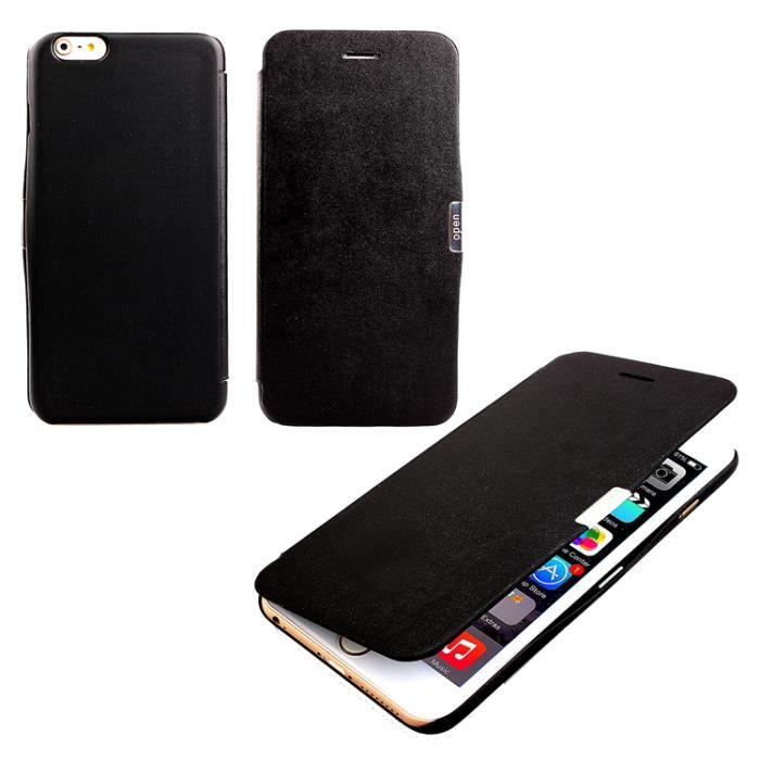 Coque housse etui clapet aimante iphone 5 5s noir achat for Etui housse iphone 5