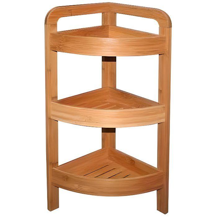etag re d 39 angle bambou 3 niveaux achat vente porte accessoire bambou cdiscount. Black Bedroom Furniture Sets. Home Design Ideas