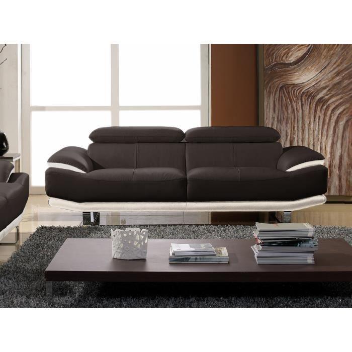 Canape convertible luxe et confort maison design - Canape dangle convertible 2 pl cuir beige ...