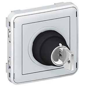 interrupteur clef 2 positions gris composable achat vente interrupteur cdiscount. Black Bedroom Furniture Sets. Home Design Ideas