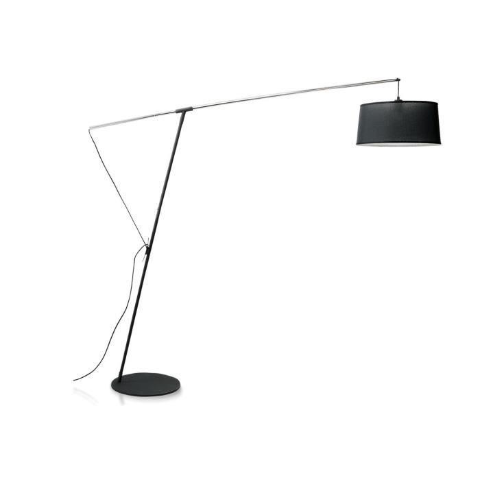 lampadaire design r glable nordica noir achat vente lampadaire design r glable soldes. Black Bedroom Furniture Sets. Home Design Ideas