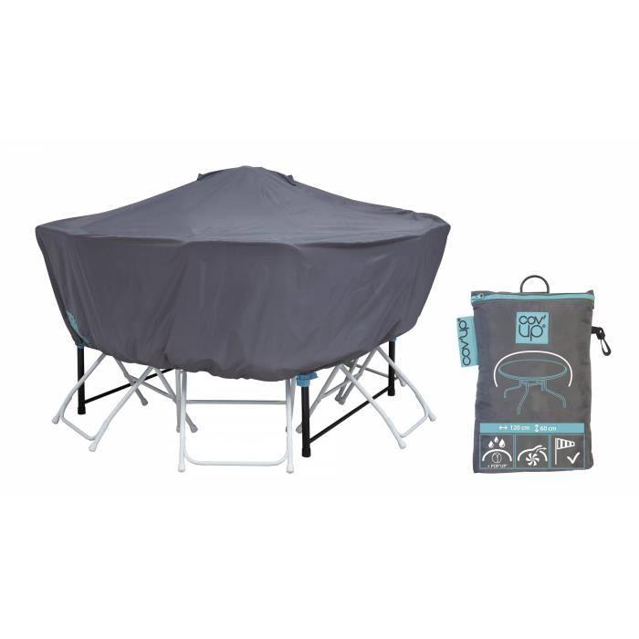 Housse de protection pour table ronde 120 cm achat for Housse de protection jardin