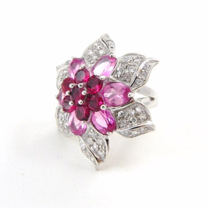 bague argent fleur sublime rose achat vente bague anneau bague argent fleur sublime femme. Black Bedroom Furniture Sets. Home Design Ideas