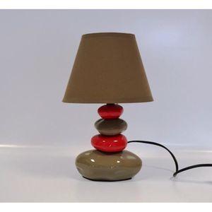 lampe de chevet galets achat vente lampe de chevet galets pas cher cdiscount. Black Bedroom Furniture Sets. Home Design Ideas
