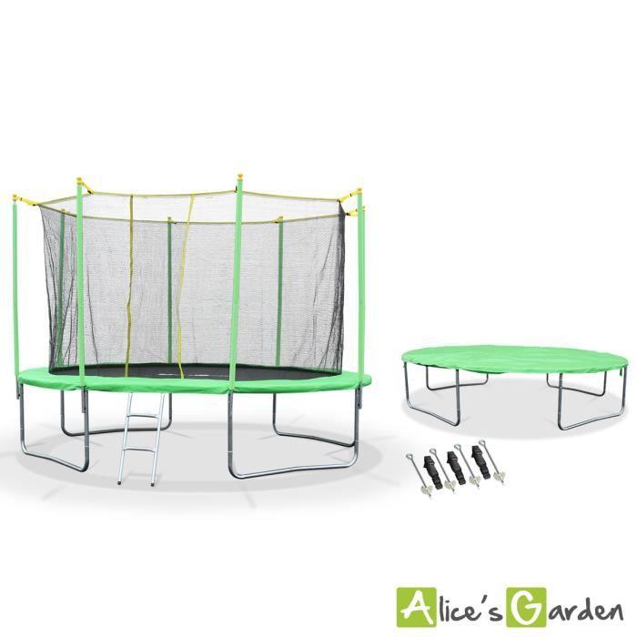 trampoline pack trampoline complet 370cm galil e avec file. Black Bedroom Furniture Sets. Home Design Ideas
