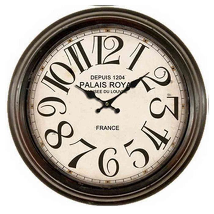 horloge ronde vintage cadre m tal m5 achat vente horloge m tal fer forg cdiscount. Black Bedroom Furniture Sets. Home Design Ideas
