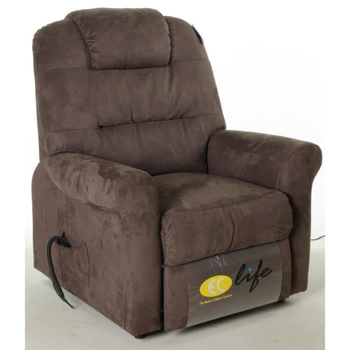 fauteuil de relaxation microfibre avec releveur 90 cm leo l 90 x p 103 x h 110 cm largeur. Black Bedroom Furniture Sets. Home Design Ideas