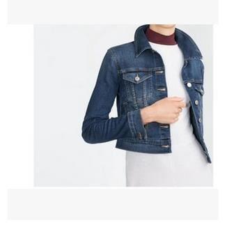 femme blouson veste en jean manches longues bleu achat vente blouson cdiscount. Black Bedroom Furniture Sets. Home Design Ideas