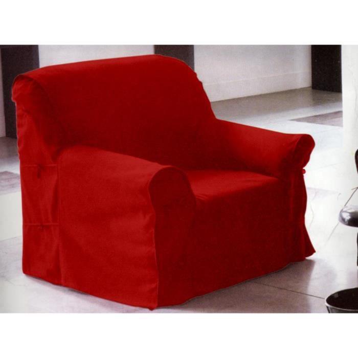 housse de fauteuil rouge 90x270 cm achat vente housse de fauteuil cdiscount. Black Bedroom Furniture Sets. Home Design Ideas