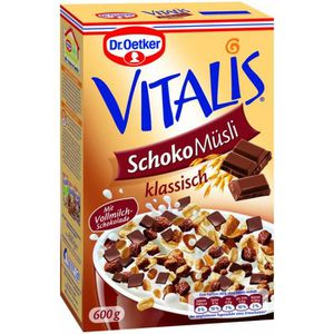 MUESLI Dr. Oetker Vitalis chocolat Muesli 2 x 600g
