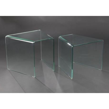 tables gigognes design moderne forme triangle en verre amadeus achat vente table gigogne. Black Bedroom Furniture Sets. Home Design Ideas