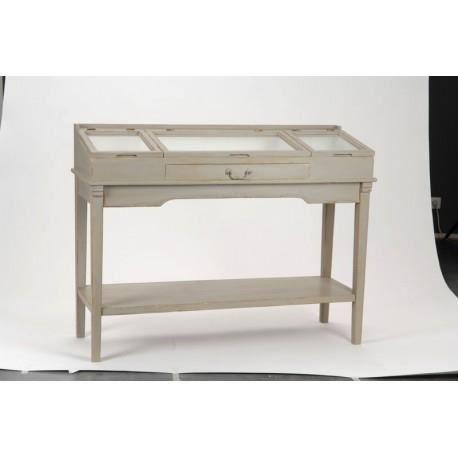 Console meuble bijoux patin gris amadeus achat - Meuble console gris ...