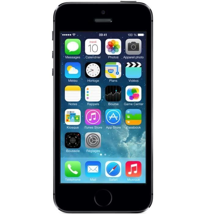 apple iphone 5s 16gb 4g gris sideral achat smartphone. Black Bedroom Furniture Sets. Home Design Ideas