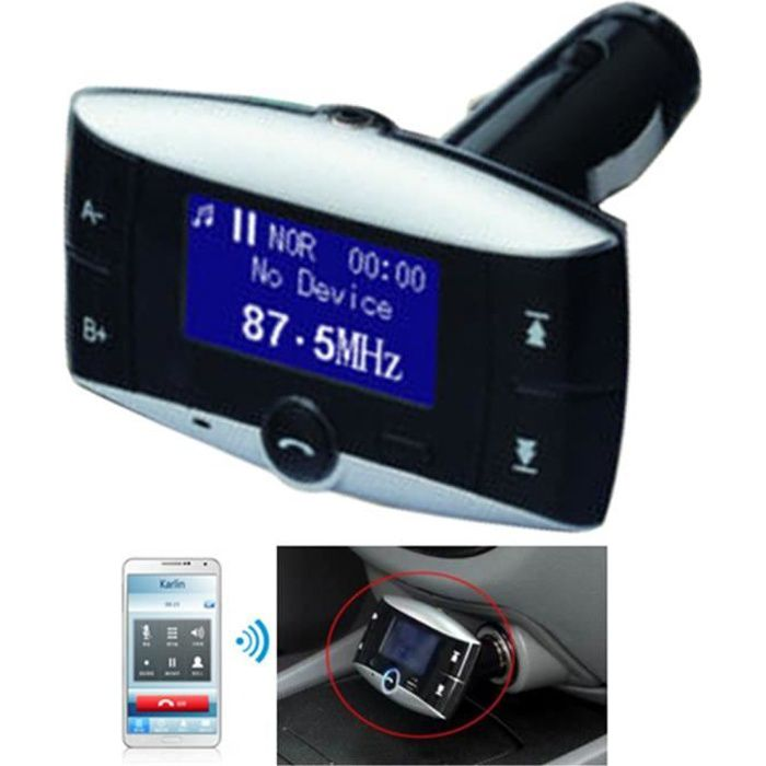 blutooth voiture lecteur mp3 fm transmetteur lcd sd mmc usb distance achat vente. Black Bedroom Furniture Sets. Home Design Ideas