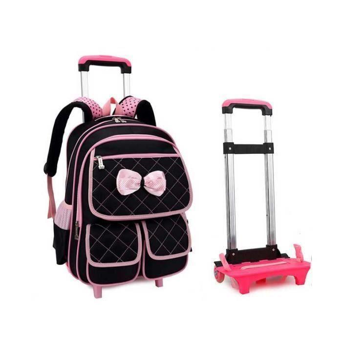 sac dos roulettes trolley scolaire enfant noir achat vente sac dos 0611536897349. Black Bedroom Furniture Sets. Home Design Ideas