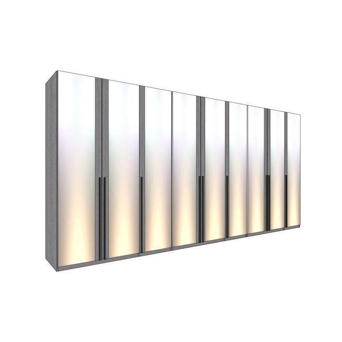 dressing mural solano l 452 x h 220 cm p miroirs achat vente amenagement dressing dressing. Black Bedroom Furniture Sets. Home Design Ideas
