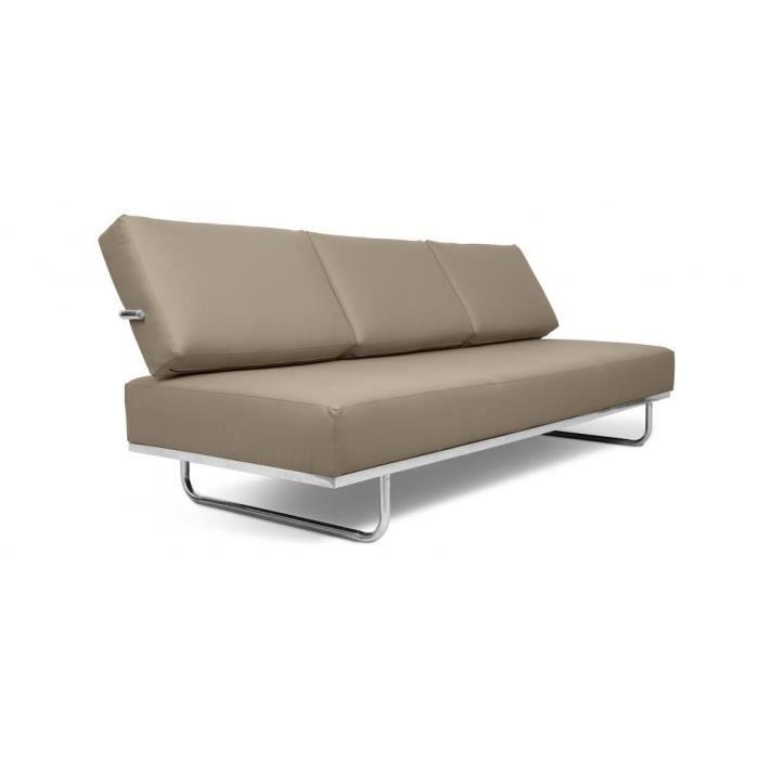 canap lit lc5 f inspir charles le corbusier cu achat vente canap sofa divan cdiscount. Black Bedroom Furniture Sets. Home Design Ideas