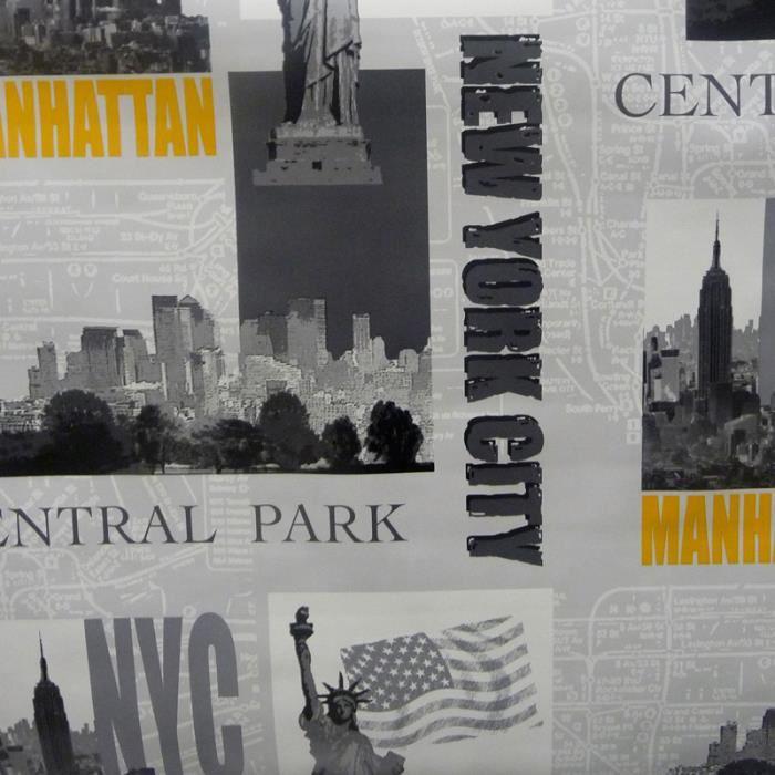 toile cir e au m tre largeur 140 new york park toile cir e vendue au m tre dimension. Black Bedroom Furniture Sets. Home Design Ideas