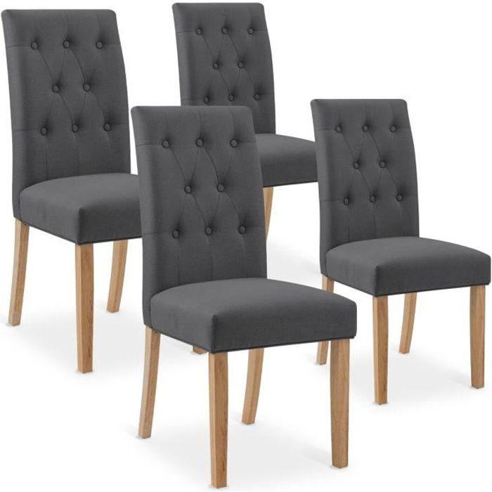 Chaise capitonne achat vente chaise capitonne pas cher - Chaises grises pas cher ...