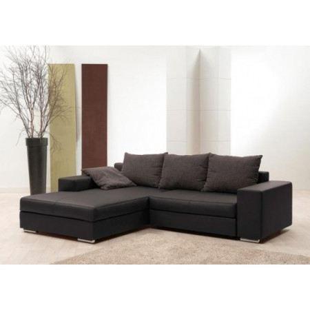 canap d 39 angle convertible matelass dexter marron achat vente canap sofa divan cdiscount. Black Bedroom Furniture Sets. Home Design Ideas