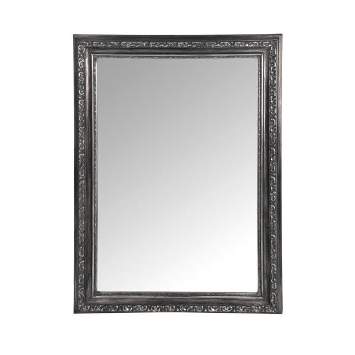 Miroir rectangle design baroque coloris argent achat for O miroir la rochelle