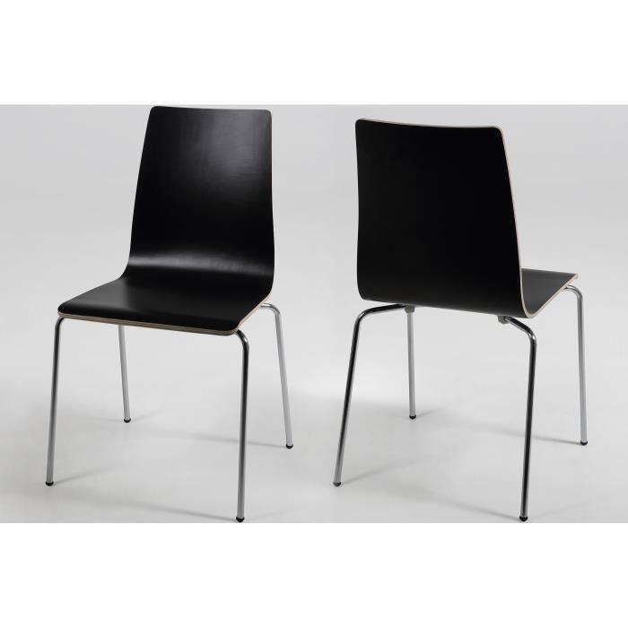 Lot de 4 chaises salle manger gaby en bois achat for Lot 4 chaises salle manger