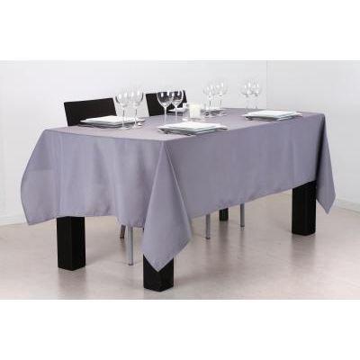 paris prix nappe anti t che 140x240cm gris achat vente nappe de table cdiscount. Black Bedroom Furniture Sets. Home Design Ideas
