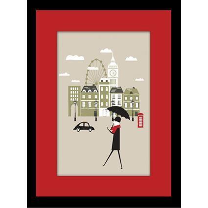 Image encadr e london 30x40 cm achat vente tableau for Image encadree decoration