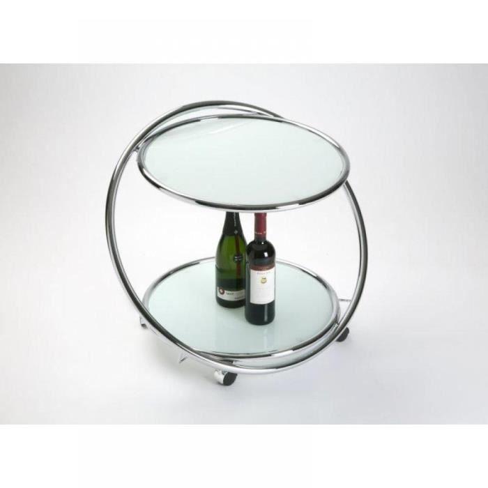 Une petite table basse mobile et sur roulettes achat vente table basse munich table - Table basse en verre cdiscount ...