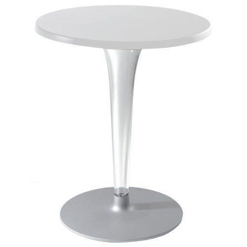 Kartell 420103 table d 39 appoint carr e toptop blanc - Table d appoint carree ...
