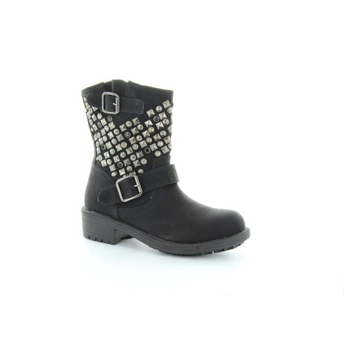 bottes clout es fantaisies noir achat vente bottes clout es fantaisies noir pas cher. Black Bedroom Furniture Sets. Home Design Ideas