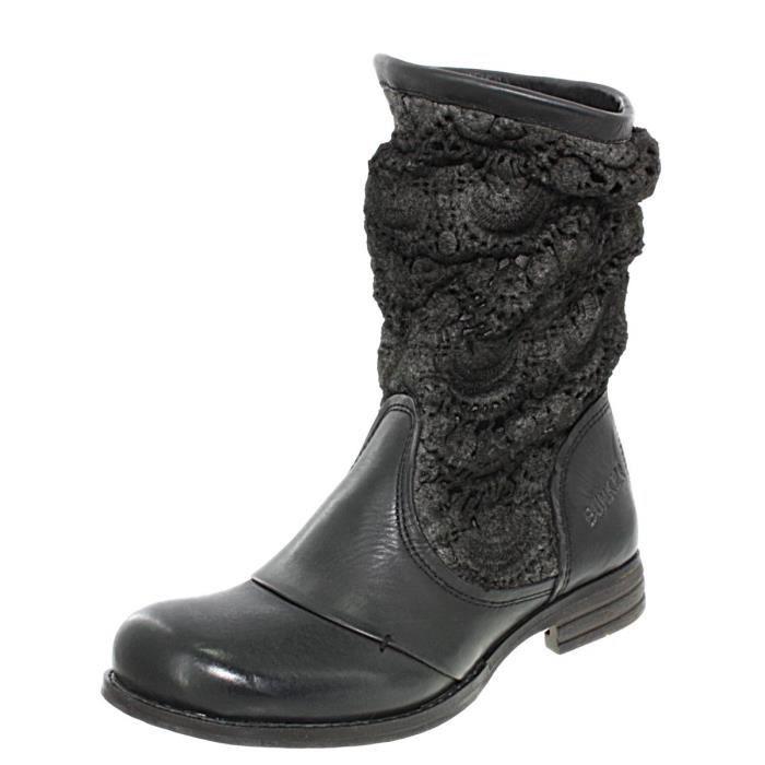 Bunker Sara Led B1 crochet, chaussures femme Bottes femme Bunker