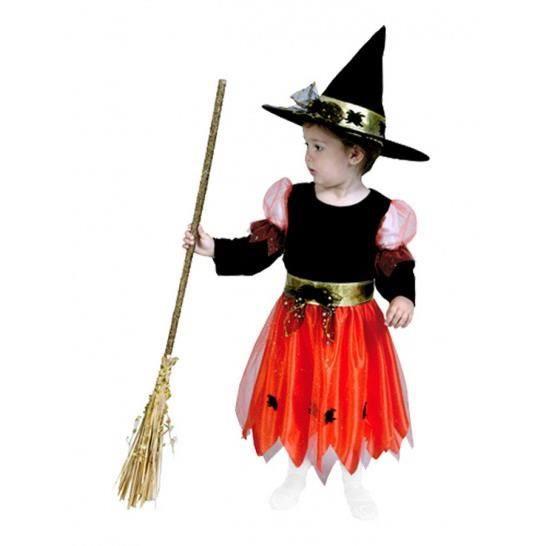 d guisement sorci re orange halloween enfant achat vente d guisement panoplie cdiscount. Black Bedroom Furniture Sets. Home Design Ideas