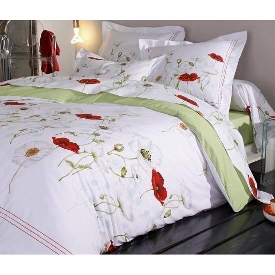 s duction coquelicot housse de couette 240x220 achat. Black Bedroom Furniture Sets. Home Design Ideas